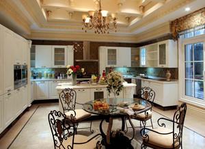 法式开放式精美厨房装修效果图
