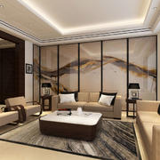 浅色调中式客厅