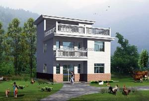 环境优美 田园风格农村二层房屋设计图