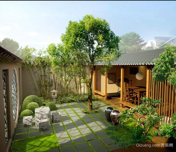 经典豪华别墅型屋顶花园设计效果图大全