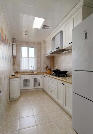 三世同堂:美式清新三室两厅两卫家庭装修设计效果图