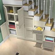 简约风格楼梯置物架装饰