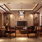 暖色调中式客厅