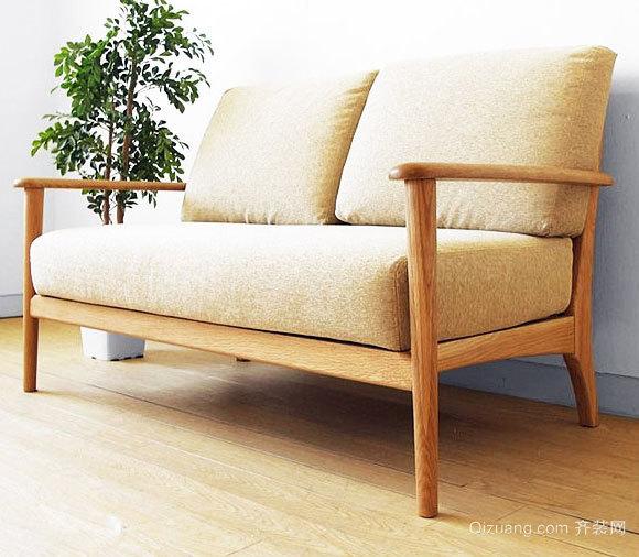 2015前卫舒适小户型客厅布艺沙发装修效果图片