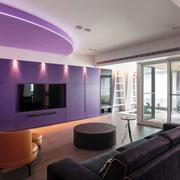 紫色调房屋装修