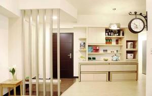 简约纯美日式风格两室一厅室内装修设计效果图