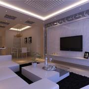紫色调客厅地板砖装修