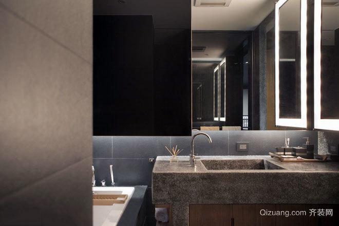 160平米秩序化安静的现代时尚公寓装修效果图