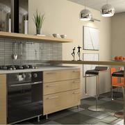 现代创意厨房吧台