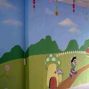 童话色彩幼儿园主题墙
