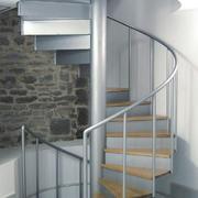 现代风格简约钢化楼梯效果图