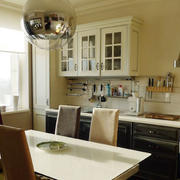 法式简约开放式厨房装饰