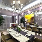 别墅欧式风格餐厅吊顶装饰