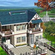 绿色环绕型农村房屋