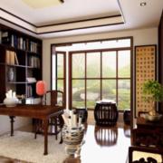 中式风格书房整体书柜装饰
