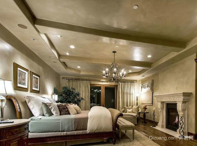 打造完美卧室:欧式精美优雅卧室吊顶装修效果图