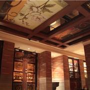 酒吧中式简约吊顶装饰