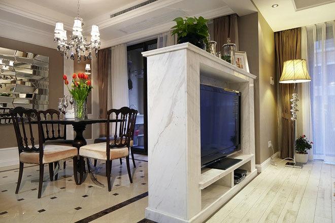 160平米黑白经典搭配新古典复式公寓装修效果图-齐装