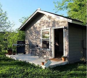 冷色调小木屋