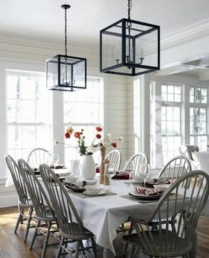 纯白色设计餐厅装修