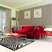 红色沙发床设计