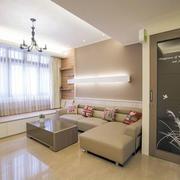 120平米房屋客厅简约风格飘窗装饰