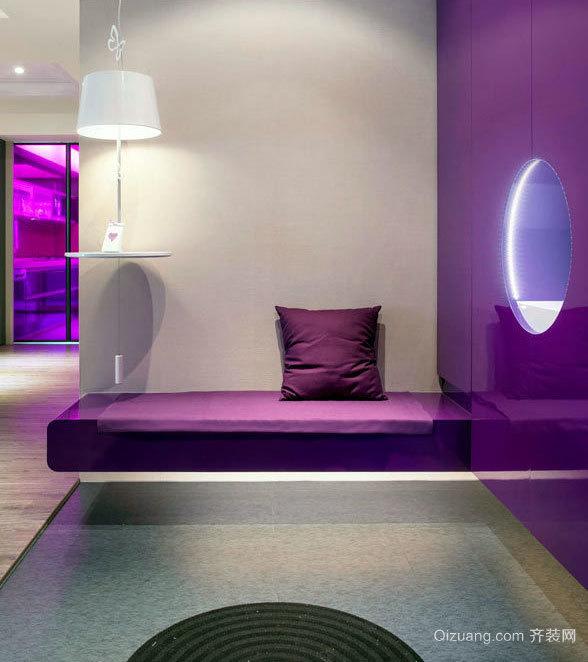 爱丽丝梦游仙境 160平米紫色浪漫房屋装修效果图