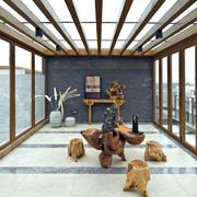 朴素风格阳光房设计