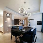两室一厅简约风格餐厅创意灯饰装饰