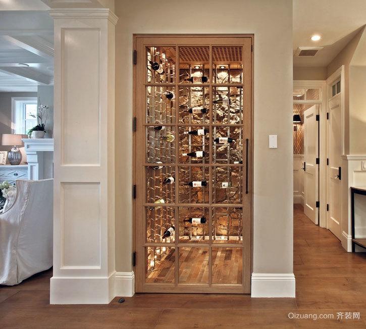 不比酒吧酒少的别墅酒窖设计效果图