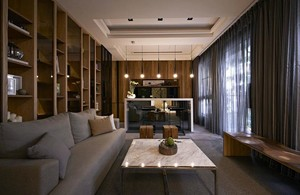 2015现代日式清幽宁静别墅装修设计效果图