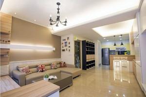 120平米简约风格客厅装饰