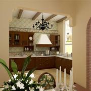 美式简约风格别墅厨房装饰