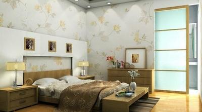 日式臥室壁紙裝修效果圖