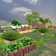 清新型屋顶花园