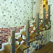 婚房地中海风格楼梯装饰