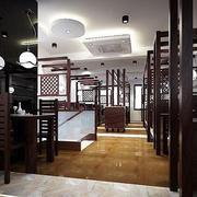 深色调中式快餐店
