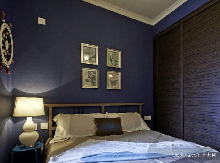 30平米蓝色梦幻系小卧室装修效果图