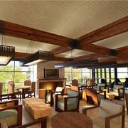 暖色调咖啡厅