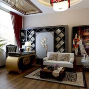 中式简约风格别墅书房装饰