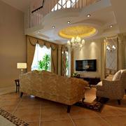 客厅地板砖装修案例
