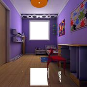 紫色系列儿童房