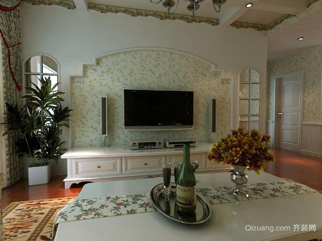 120平米造价适中的现代简约风格客厅电视背景墙设计