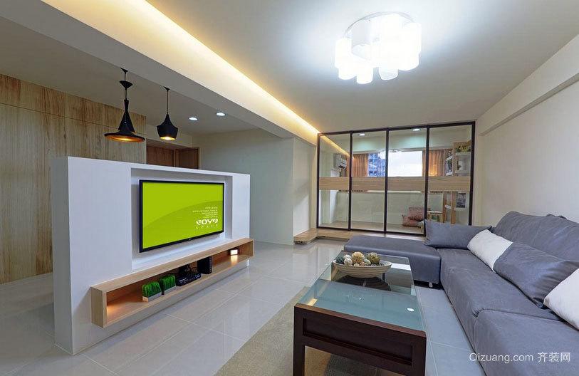 清新禅意:95平米错层一居室公寓装修效果图