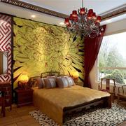 美式简约风格别墅卧室效果图