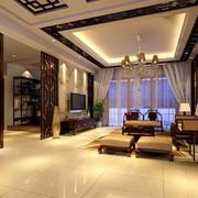 中式风格客厅隔断装饰