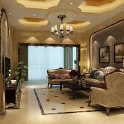 欧式经典风格复式楼客厅效果图