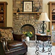 石制简约风格壁炉装饰