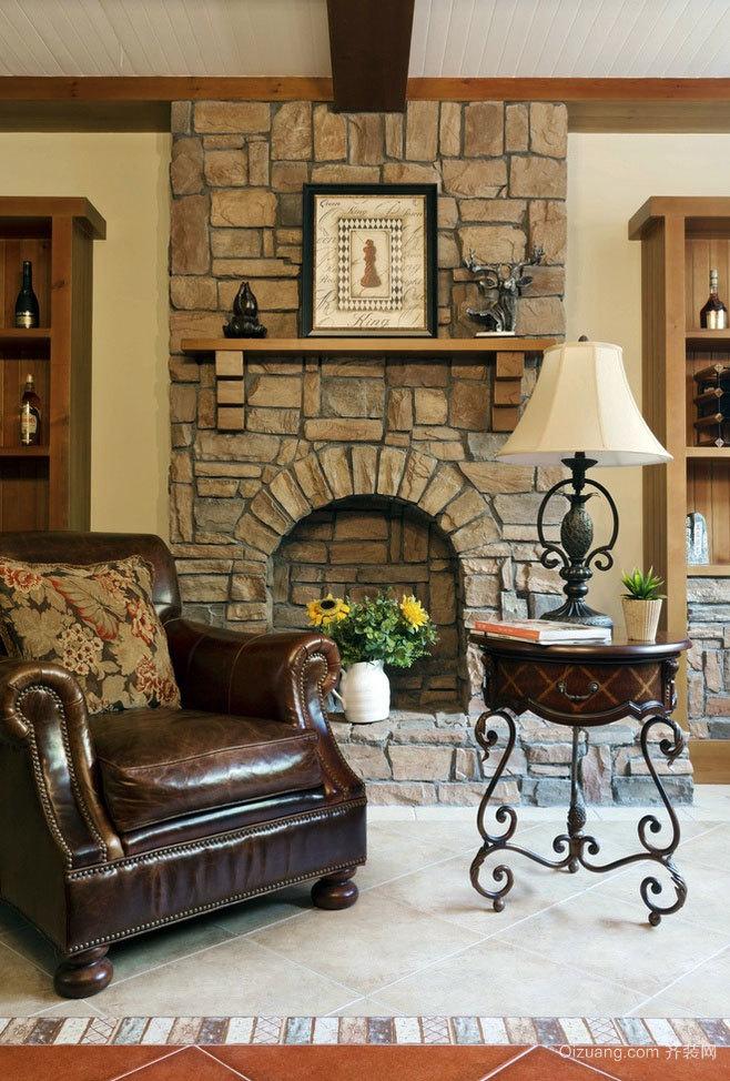 高贵典雅的欧式别墅壁炉装修效果图