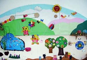 幼儿园简约风格教室墙饰装饰